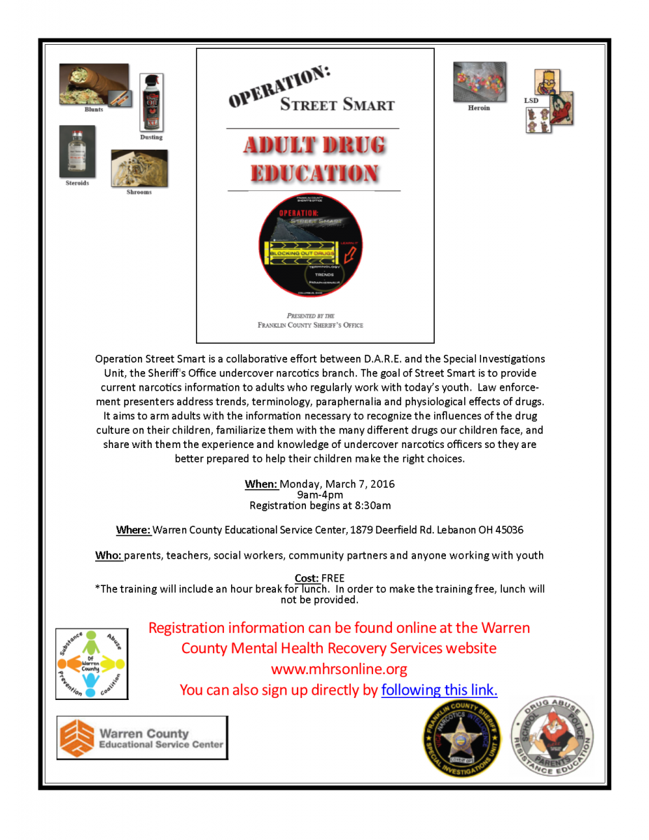 Operation Street Smart Training Flyer